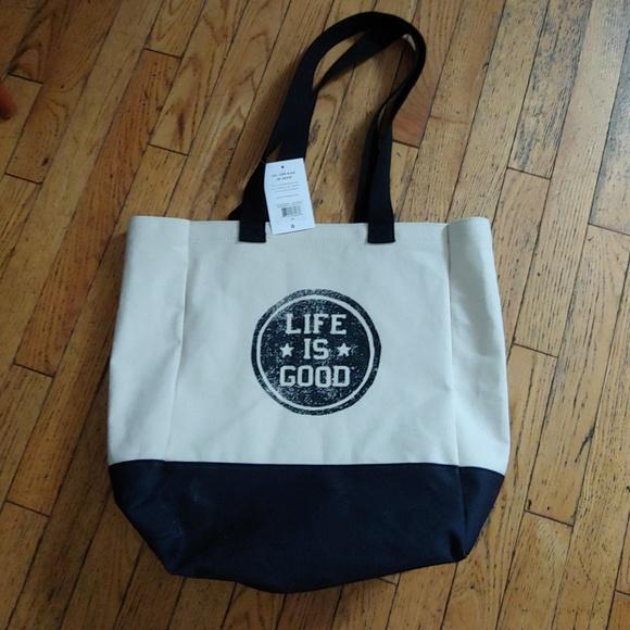 Life Is Good Handbags - Life's good canvas bag